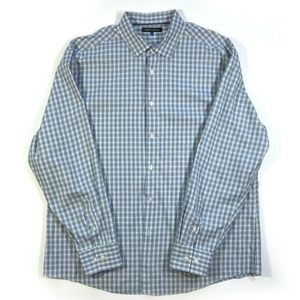 Vince Camuto Long Sleeve Shirt Blue Checked